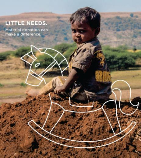 Little Needs – Material Donation can make a difference